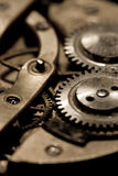 Watch mechanism. Details of the internal mechanism and parts of a watch Royalty Free Stock Images