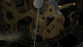 Watch mechanism. Close up stock footage