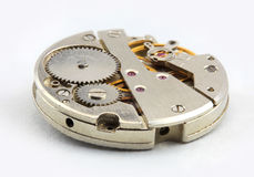 Watch mechanism. Extreme close up shot made with stacking several images to achieve better focus Royalty Free Stock Photos