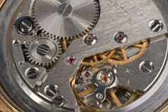 Watch mechanism macro Stock Photos
