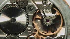 Watch mechanism macro stock footage