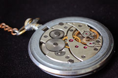 Watch mechanism, mechanical pocket Stock Photos