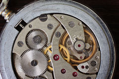 Watch mechanism, mechanical pocket Stock Images