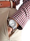 Watch on the men's hand Stock Photo