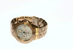 Watch Mens Fashion Titanium. Men's titanium sports watch isolated on a white background Stock Photos