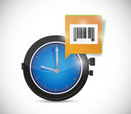 Watch message and barcode. Illustration design over a white background Stock Image