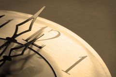 Watch in midnight sepia toned Royalty Free Stock Photography