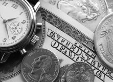Watch and money Royalty Free Stock Image