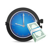 Watch and money illustration design Royalty Free Stock Photos