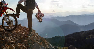 Watch mountain from summit Stock Image