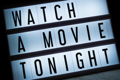 Watch a movie tonight Royalty Free Stock Photos