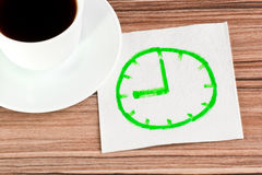 Watch on a napkin Royalty Free Stock Images