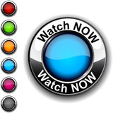 Watch now button. Stock Photography