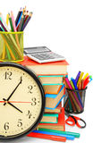 Watch and other school subjects Stock Photo