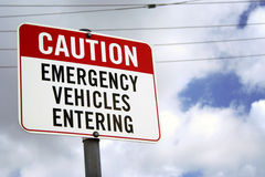 Watch out for ambulances Royalty Free Stock Photos
