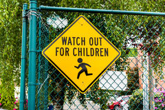 Watch out for children Royalty Free Stock Photography