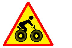 Watch out for cyclists Royalty Free Stock Photo