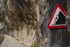Falling rocks Stock Photography