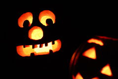 Watch Out ... Jack-O-Lanterns Are About. Royalty Free Stock Photo