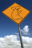 Watch out for koalas Royalty Free Stock Photography