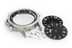 Watch Parts. Shot on white background Stock Photography
