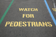 Watch for Pedestrians Royalty Free Stock Photography