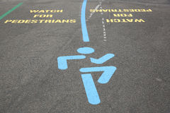 Watch for Pedestrians Royalty Free Stock Photos