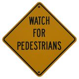 Watch For Pedestrians Stock Image
