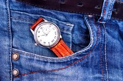 Watch in pocket Stock Images