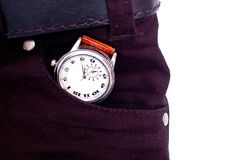 Watch in pocket Stock Photos