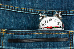 Watch in pocket of jeans Stock Images