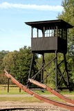 Watch post in former dutch Camp Westerbork Stock Photos