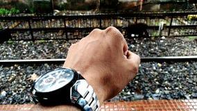 Watch railway track Royalty Free Stock Photo