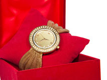Watch In Red Box Royalty Free Stock Photo