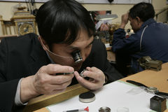 Watch repair man Royalty Free Stock Photo