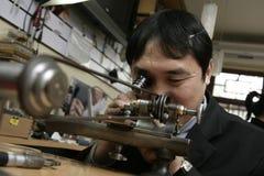 Watch repair man Stock Image