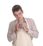 Watch repairer at work Royalty Free Stock Image