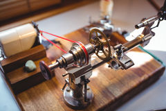 Watch repairing machine in a horology workshop. Close-up of watch repairing machine in a horology workshop Royalty Free Stock Photos