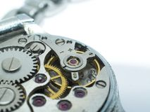 Watch's part. Watch part, macro shot, background Royalty Free Stock Image