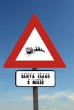 Watch for Santa sign Stock Images