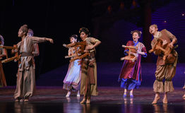 "Watch the scene of bustle-Dance drama ""The Dream of Maritime Silk Road"" Royalty Free Stock Image"