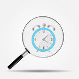 Watch Search Icon Vector Illustration Royalty Free Stock Image