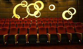 Watch seats. Comfortable seating is theater viewers to enjoy warm and comfortable place Stock Image