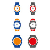 Watch 2. A set of watch illustrations Stock Photos