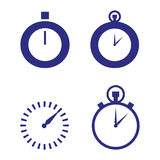 Watch. A set of simple watch icons Stock Image