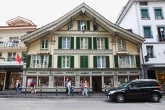 Watch shop in the Interlaken Royalty Free Stock Photo