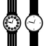 Watch Silhouette. Eps 10 Vector Illustration Stock Images