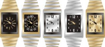 Watch silver Stock Photo