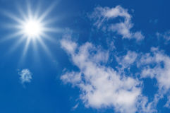 Watch the sky. Sunlight in a blue sky for Clean Energy Stock Photos