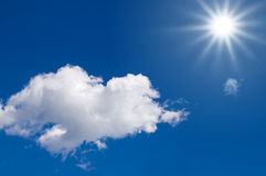 Watch the sky. Sunlight in a blue sky. Clean Energy royalty free stock images